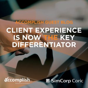 SimCorp Coric has picked-up on our research into how CX has become the differentiator for asset managers.